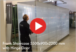 Video: Frank Showcase 5500x900x2200 mm with Hinge Door