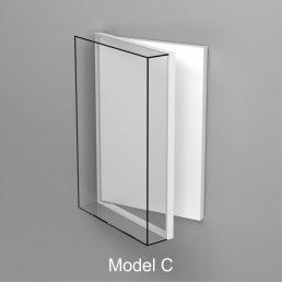 Ganzglas Wandhaube Öffnungsmöglichkeit drehen
