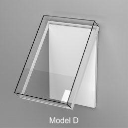 Ganzglas Wandhaube Öffnungsmöglichkeit klappen